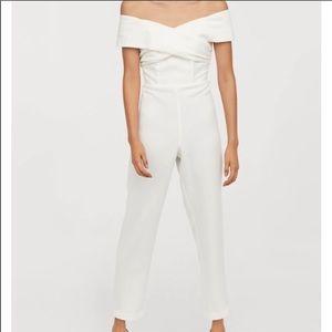 H&M white jumpsuit